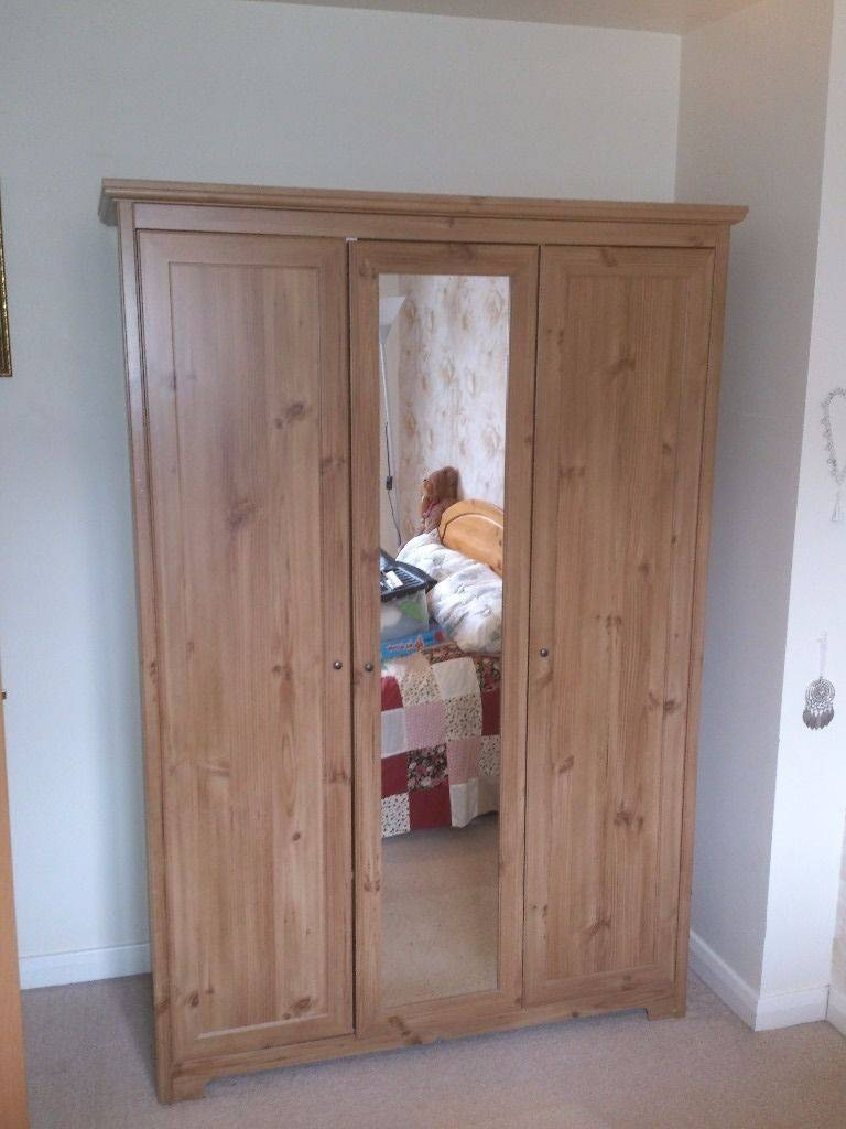 Lovely Oak Veneered Ikea Triple Wardrobe £100  Cheap Local within Cheap Triple Wardrobes (Image 4 of 15)