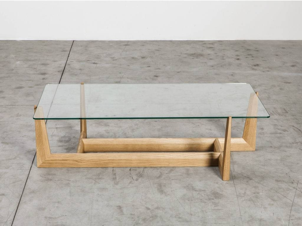 Lovely Rectangle Glass Coffee Table And End Table Set With Bamboo with regard to Low Glass Coffee Tables (Image 15 of 30)
