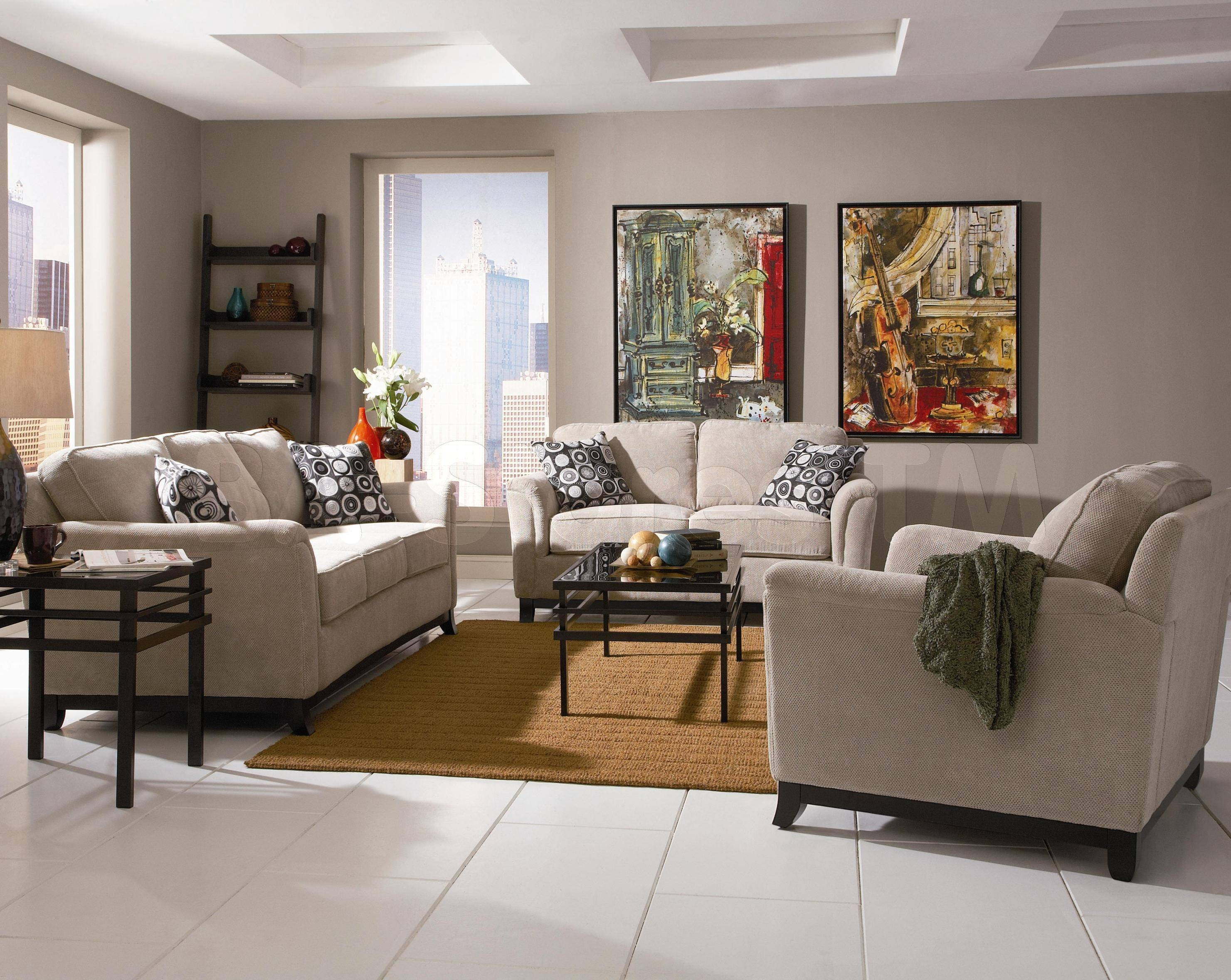 Lovely Sofa Loveseat Chair Arrangement 163636 375X281 U Shaped in Sofa Loveseat and Chairs (Image 14 of 30)