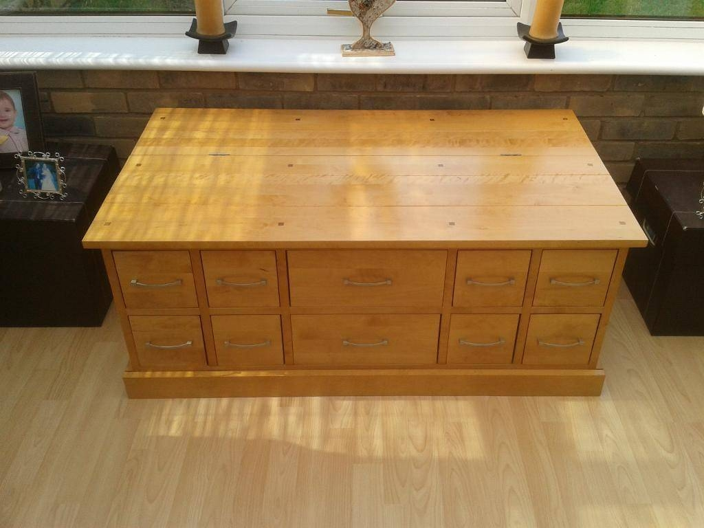 Lovely Solid Birch Coffee Table / Trunk - Next Stamford Range | In within Birch Coffee Tables (Image 18 of 30)