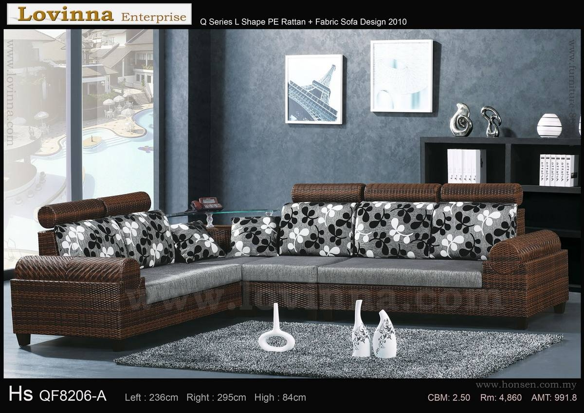 Lovinna L Shape Fabric Sofa - B inside L Shaped Fabric Sofas (Image 16 of 30)