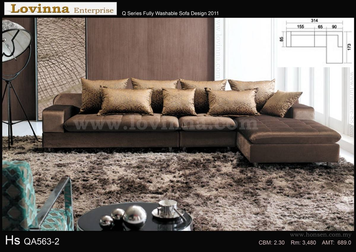 Lovinna L Shape Fabric Sofa - B throughout L Shaped Fabric Sofas (Image 17 of 30)