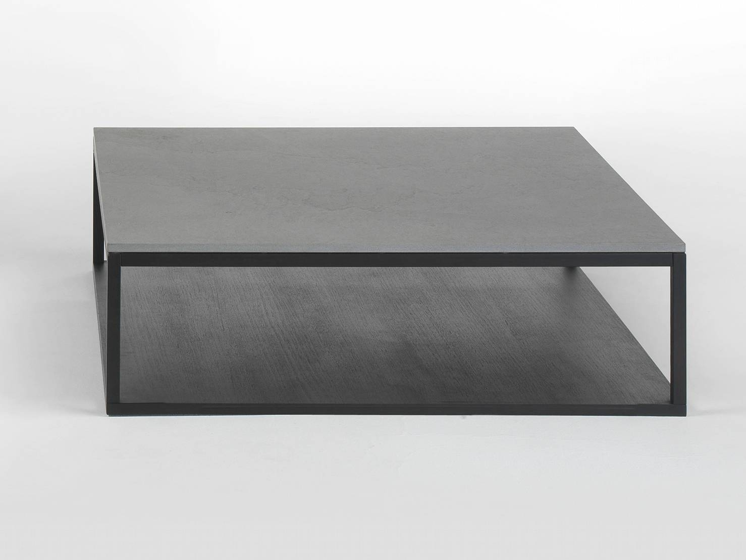 Low Black Square Coffee Table | Coffee Tables Decoration pertaining to Low Square Coffee Tables (Image 14 of 30)