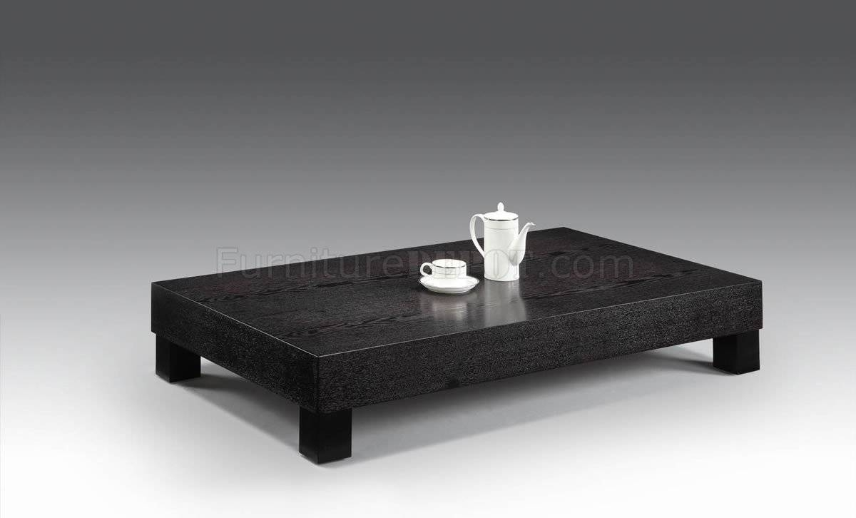 Low Black Square Coffee Table | Coffee Tables Decoration regarding Square Black Coffee Tables (Image 25 of 30)