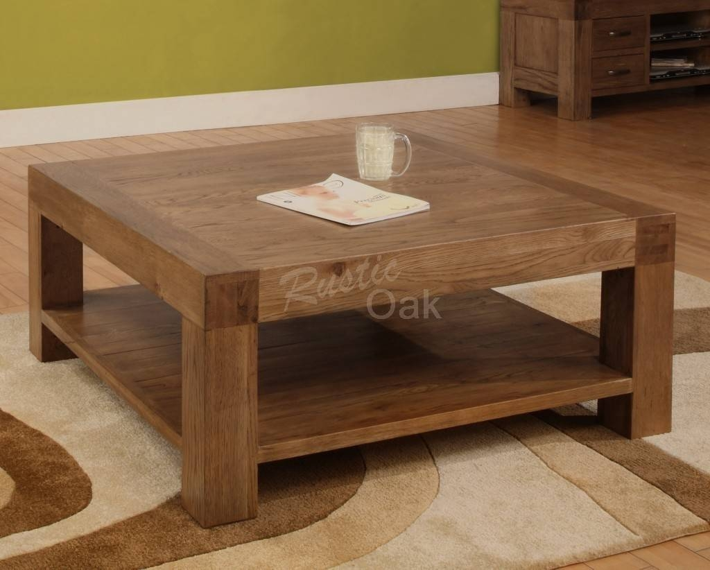 Low Coffee Tables Uk regarding Square Oak Coffee Tables (Image 14 of 30)