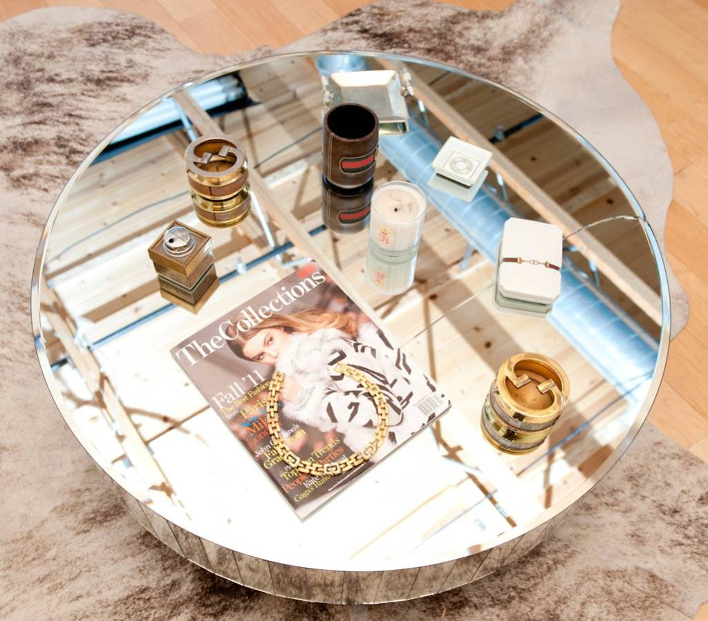 Low Round Mirrored Coffee Table for Round Mirrored Coffee Tables (Image 19 of 30)