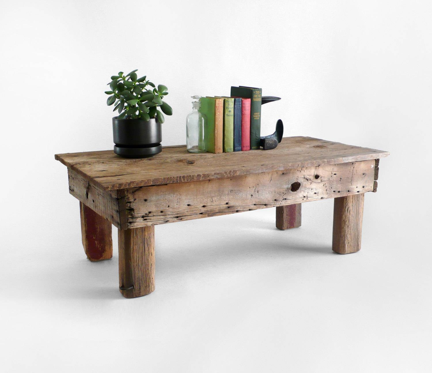 Low Rustic Wood Coffee Table | Coffee Tables Intended For Large Low Rustic Coffee Tables (View 11 of 30)