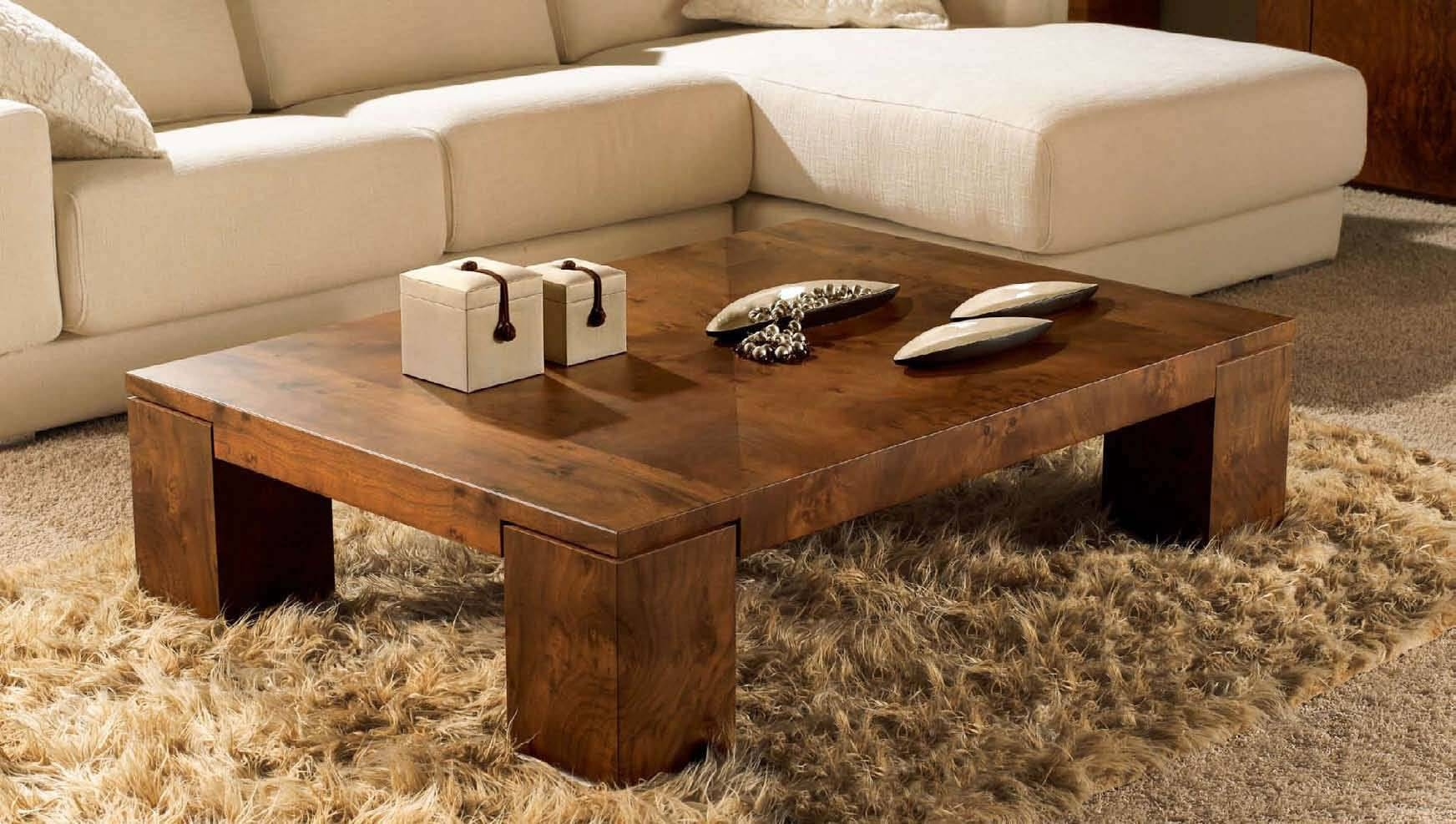 Low Square Coffee Table Wooden | Coffee Tables Decoration With Regard To Large Low Wood Coffee Tables (View 12 of 30)