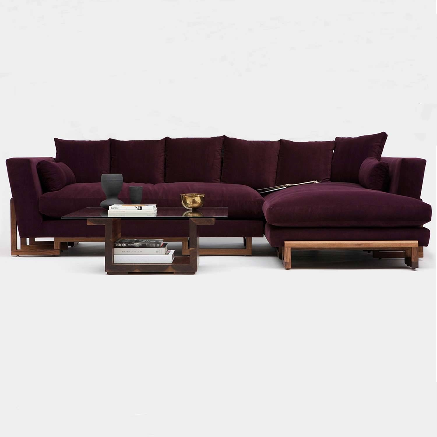 Lrg Sectional Sofaartless | Yliving with regard to Eggplant Sectional Sofa (Image 18 of 30)