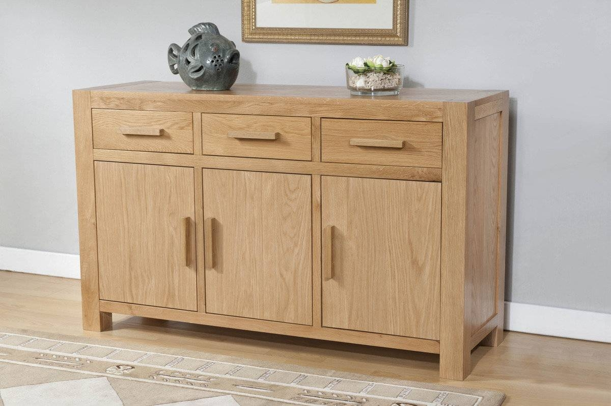 Lucerne Contemporary Oak Large Sideboard | Lucerne Contemporary throughout Contemporary Oak Sideboards (Image 11 of 30)
