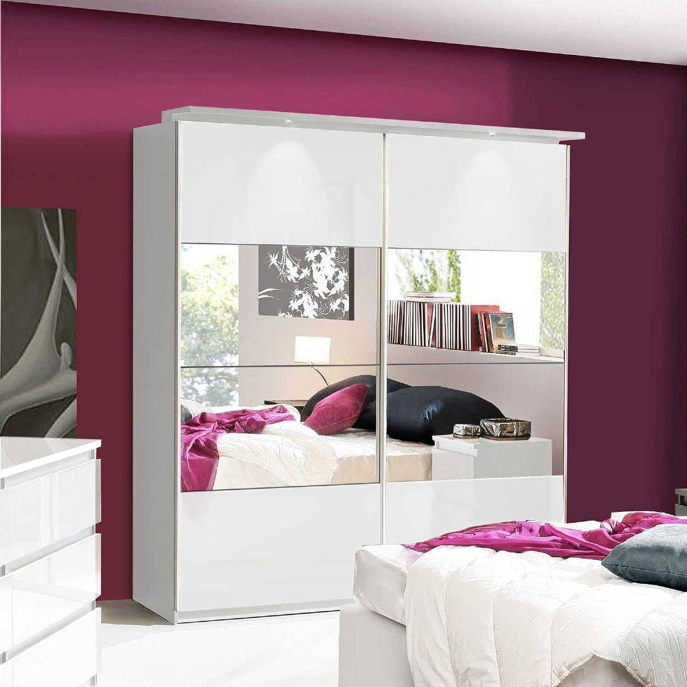 Lucia White Gloss Sliding Door Wardrobe Chls824E1C87 with White High Gloss Wardrobes (Image 4 of 15)