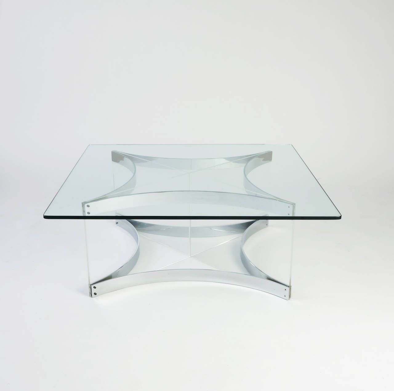Lucite And Chrome Coffee Tablealessandro Albrizzi For Sale At for White And Chrome Coffee Tables (Image 15 of 30)