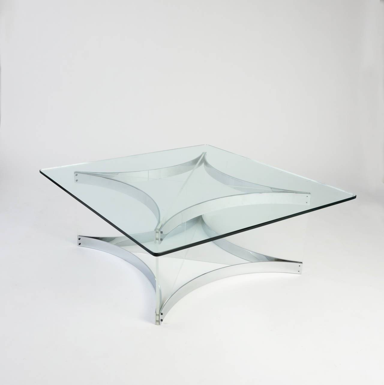 Lucite And Chrome Coffee Tablealessandro Albrizzi For Sale At inside White and Chrome Coffee Tables (Image 16 of 30)