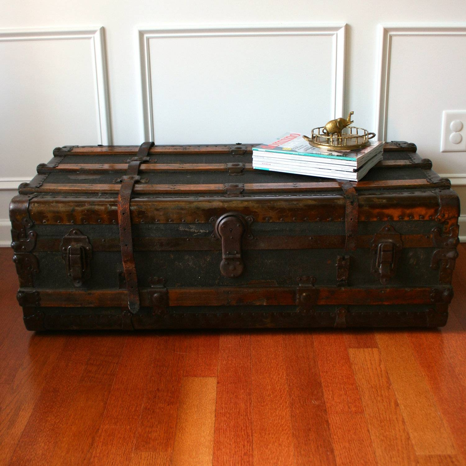 Luggage Trunk Coffee Table | Coffee Tables Decoration with regard to Steamer Trunk Stainless Steel Coffee Tables (Image 14 of 30)