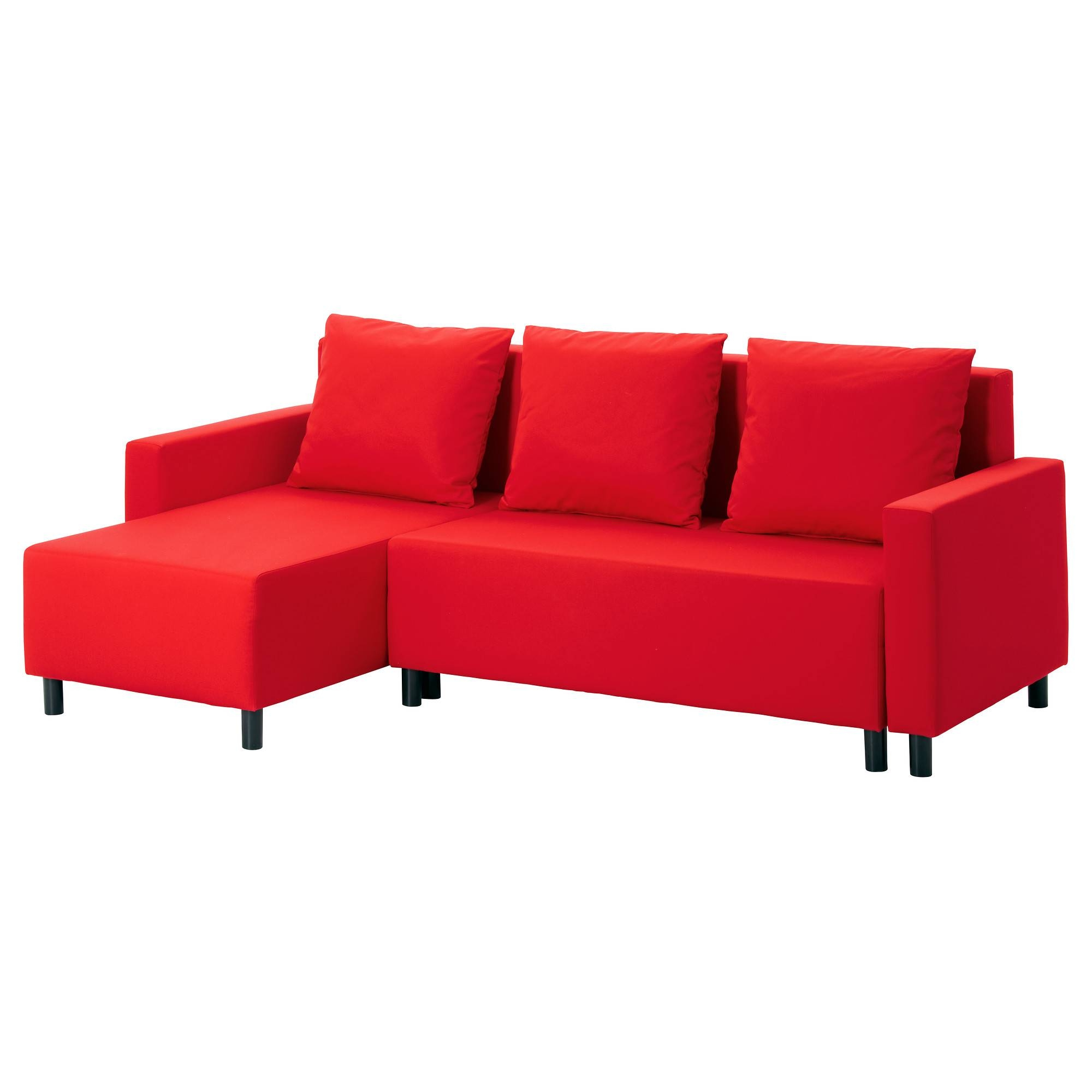 Lugnvik Sofa Bed With Chaise Longue Tallåsen Red - Ikea throughout Ikea Chaise Lounge Sofa (Image 23 of 30)