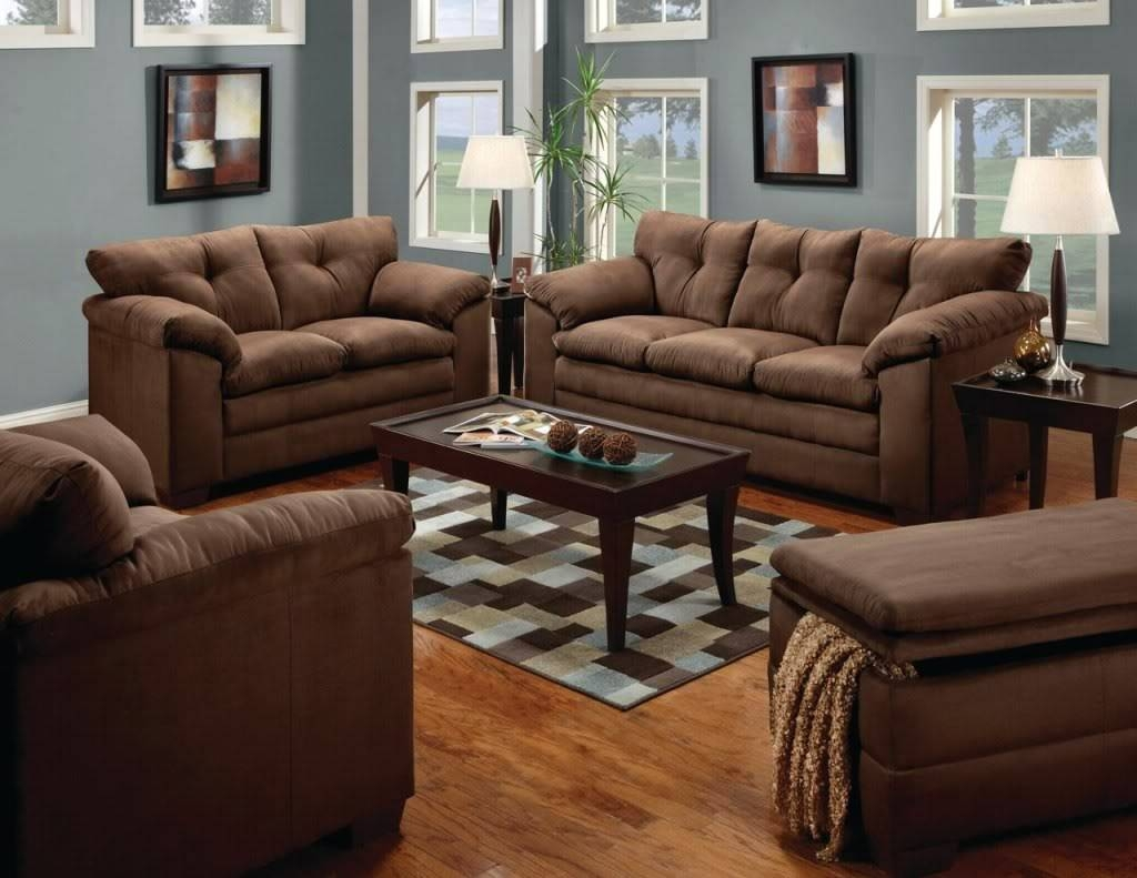 Luna Sofa, Loveseat, Chair & Ottoman Casual Microfiber 4 Piece with Sofa Loveseat And Chairs (Image 15 of 30)