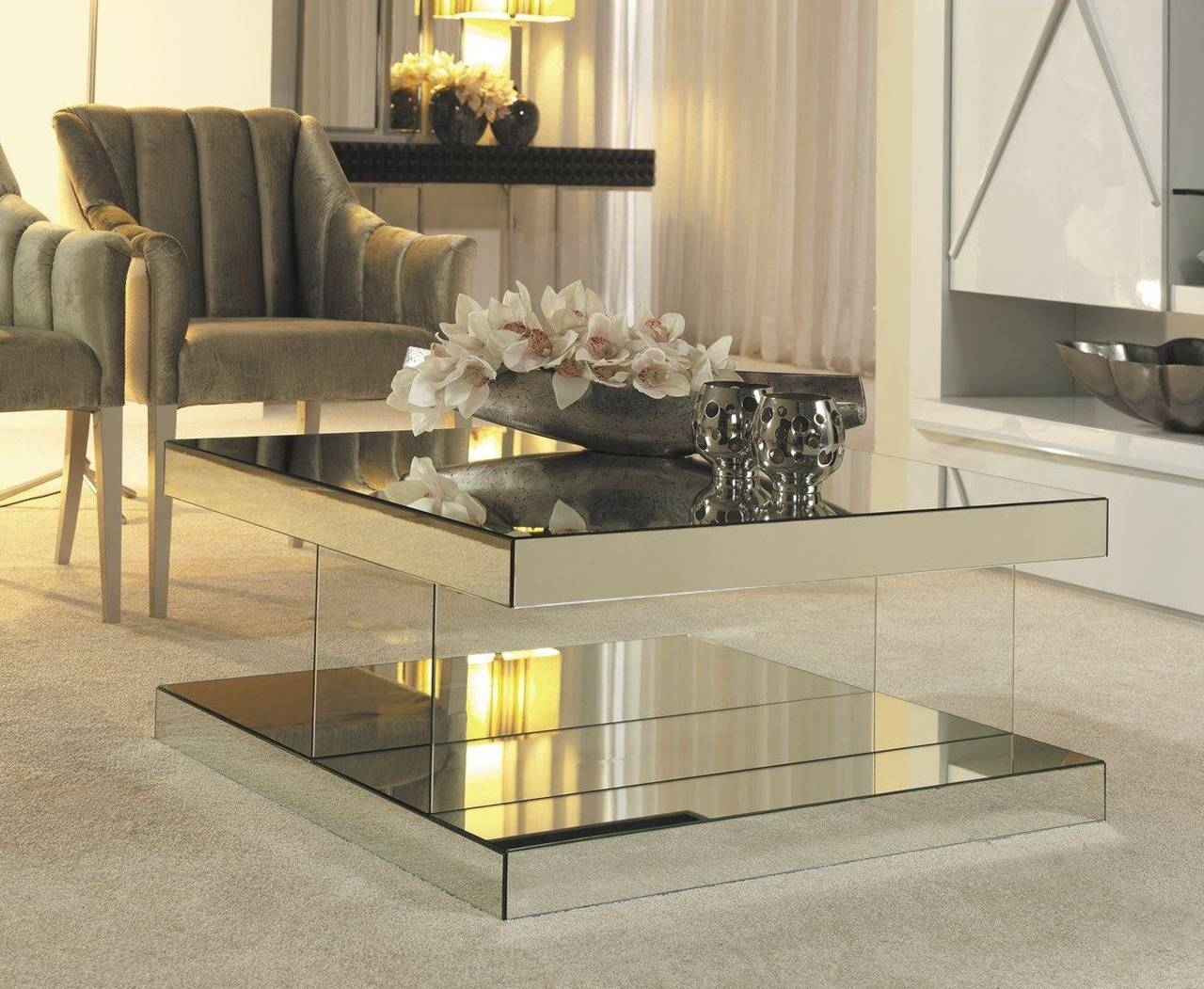 Luxurious Mirrored Coffee Table intended for Mirrored Coffee Tables (Image 18 of 30)