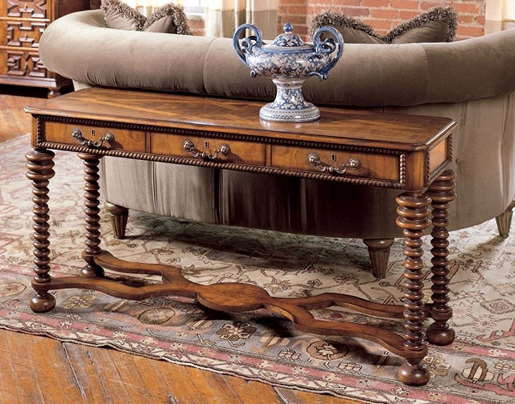Luxury Home Furniture Design Of Tuscany Italian Sofa Table with Sofa Table Chairs (Image 21 of 30)