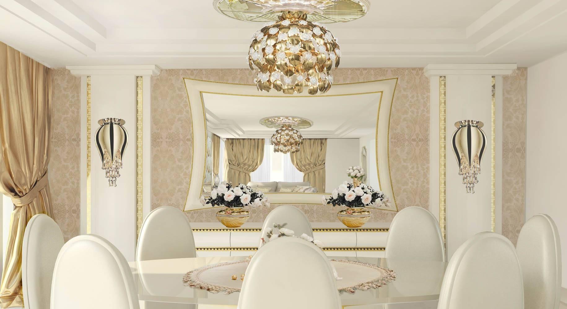 Luxury Interior Design Lidia Bersani - Interior with Swarovski Mirrors (Image 20 of 25)