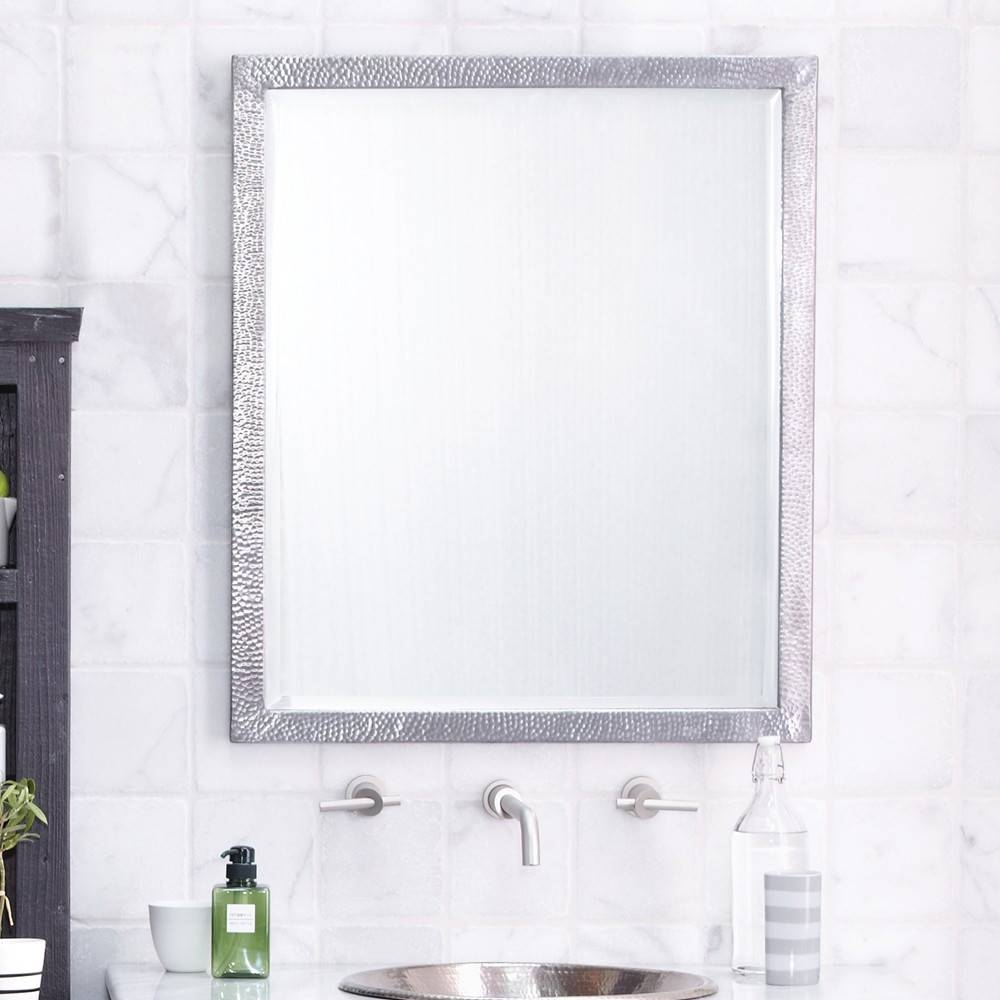 Luxury Metal Framed Wall Mirrors | Native Trails with White Metal Mirrors (Image 15 of 25)