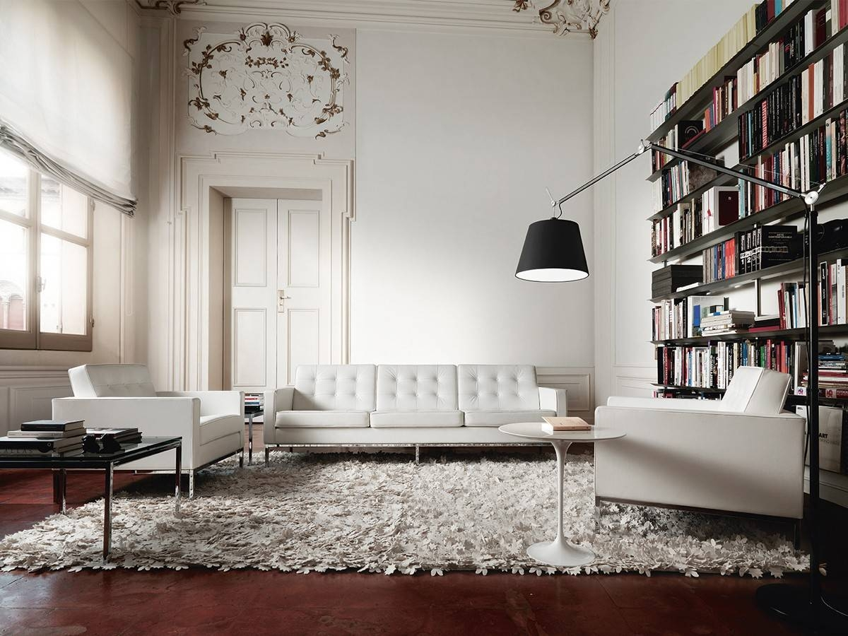 Luxury Of Florence Knoll Sofa : Florence Knoll Sofa With 3-Seater intended for Florence Large Sofas (Image 18 of 30)