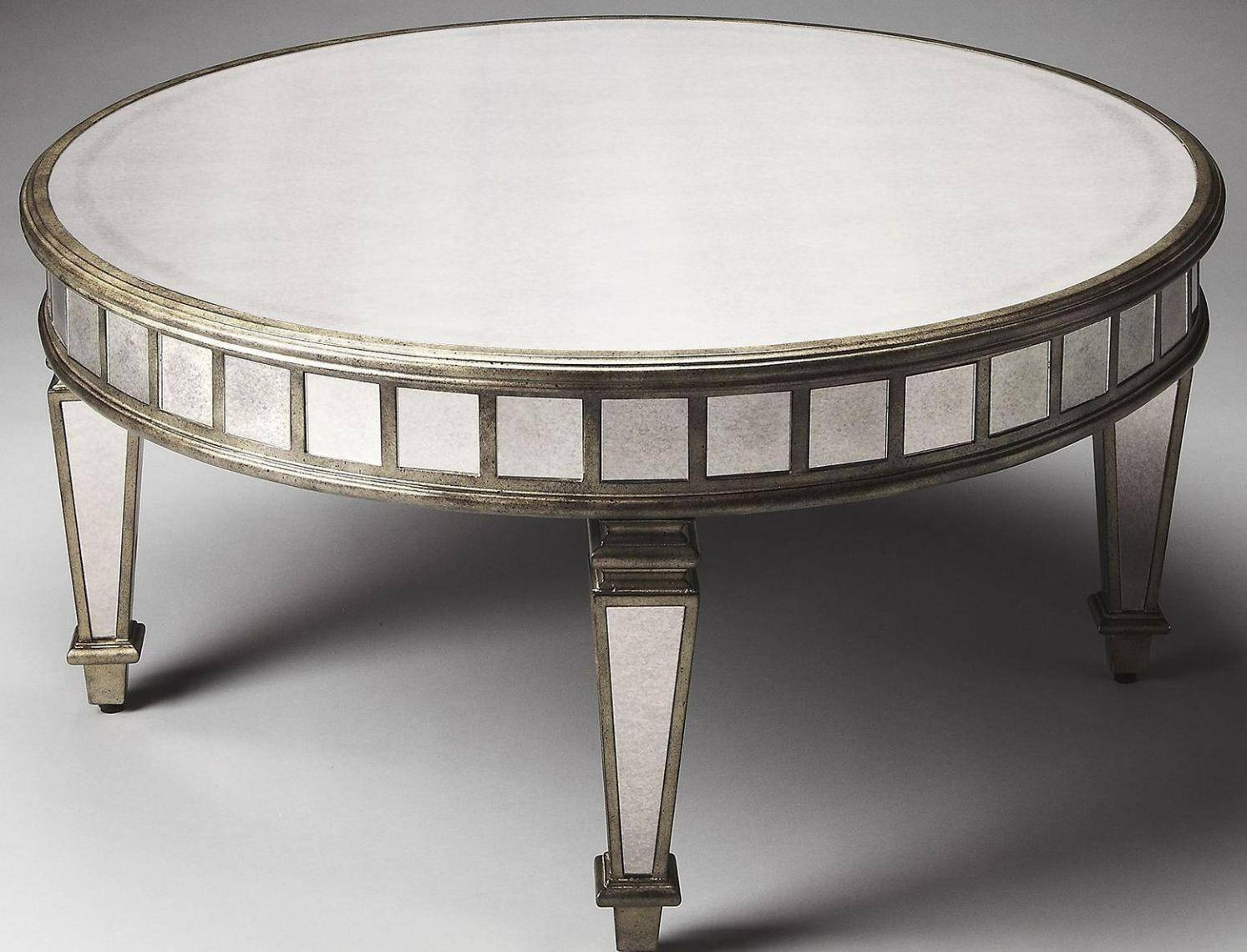 Luxury Oval Mirrored Coffee Table With Interior Decor Home With within Oval Mirrored Coffee Tables (Image 16 of 30)