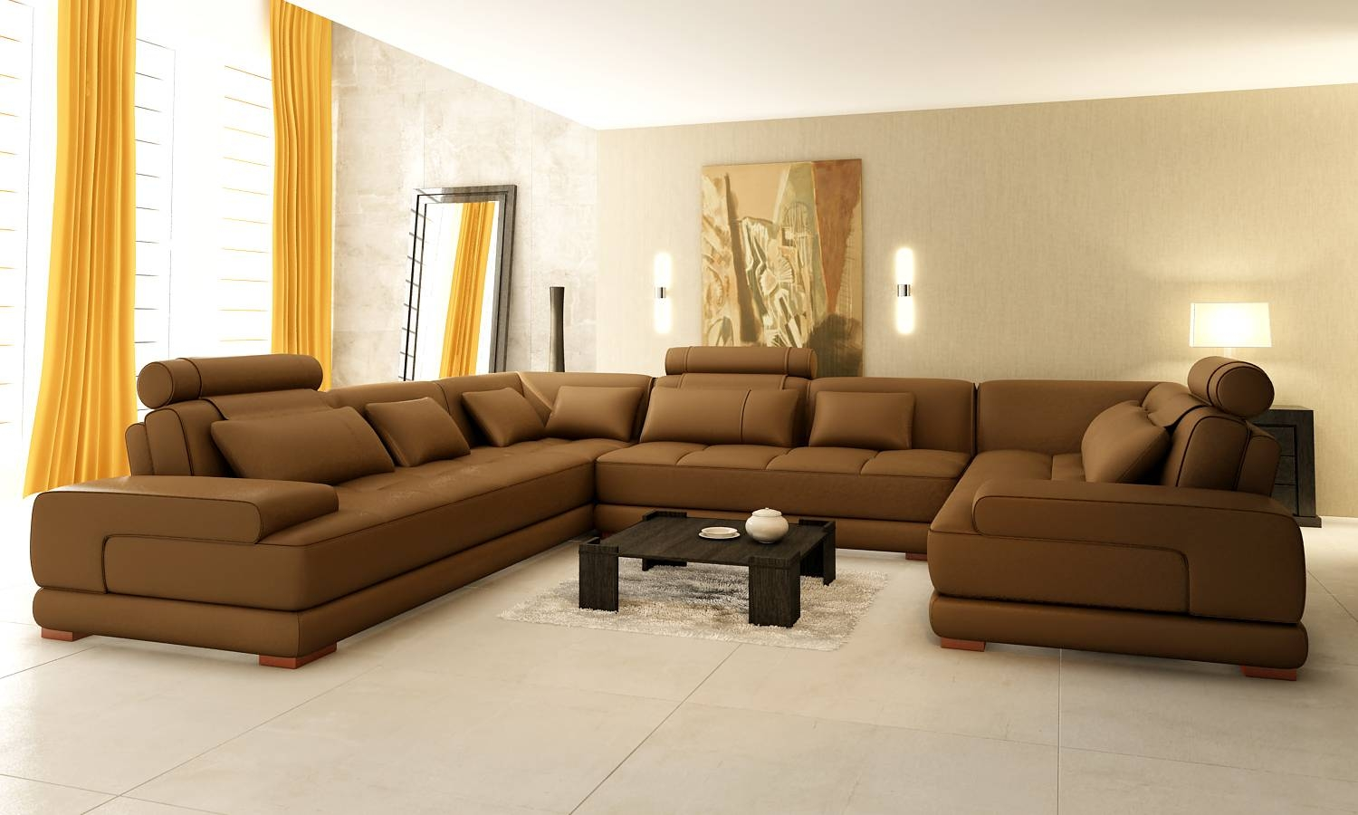 Luxury Sectional Sofas - Leather Sectional Sofa in Expensive Sectional Sofas (Image 18 of 30)