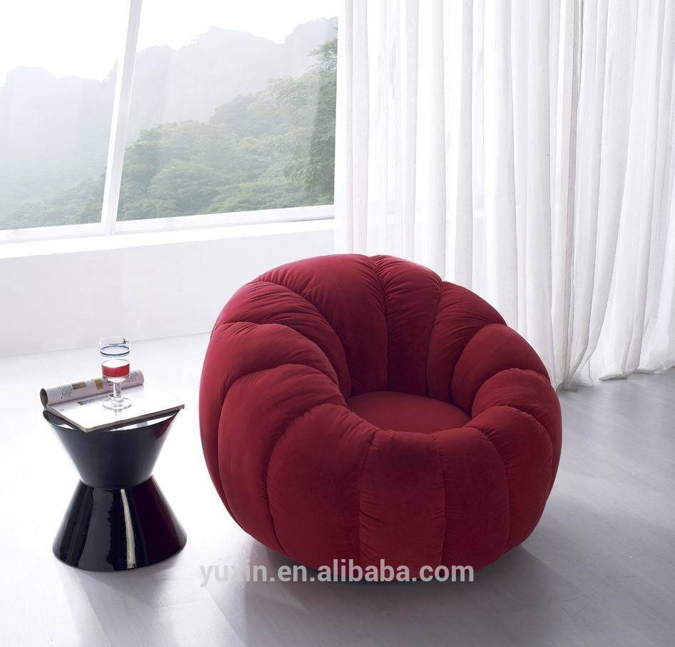 Luxury Velvet Single Wooden Sofa Chair/round Mini Sofa Chair - Buy with regard to Circle Sofa Chairs (Image 15 of 30)