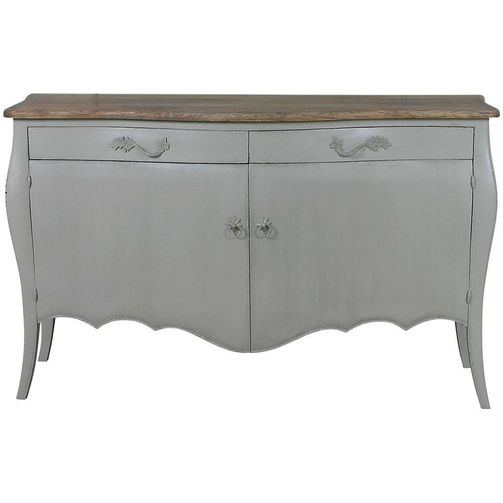 Lyon 2 Door French Sideboard | French Carved Sideboards | Shabby with Curved Sideboards (Image 9 of 30)