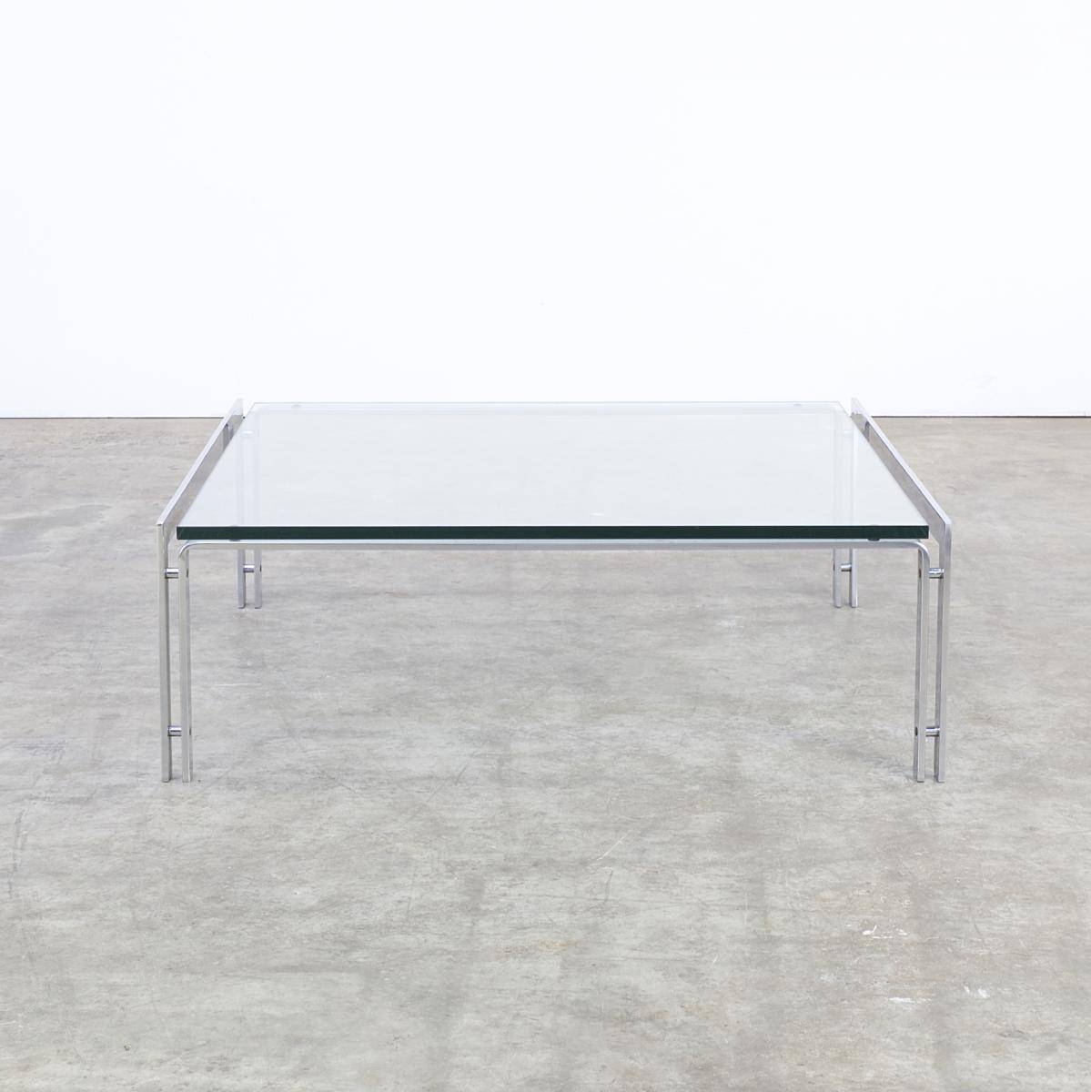M1 Glass & Chrome Coffee Table From Metaform, 1970S For Sale At Pamono within Glass Chrome Coffee Tables (Image 22 of 30)