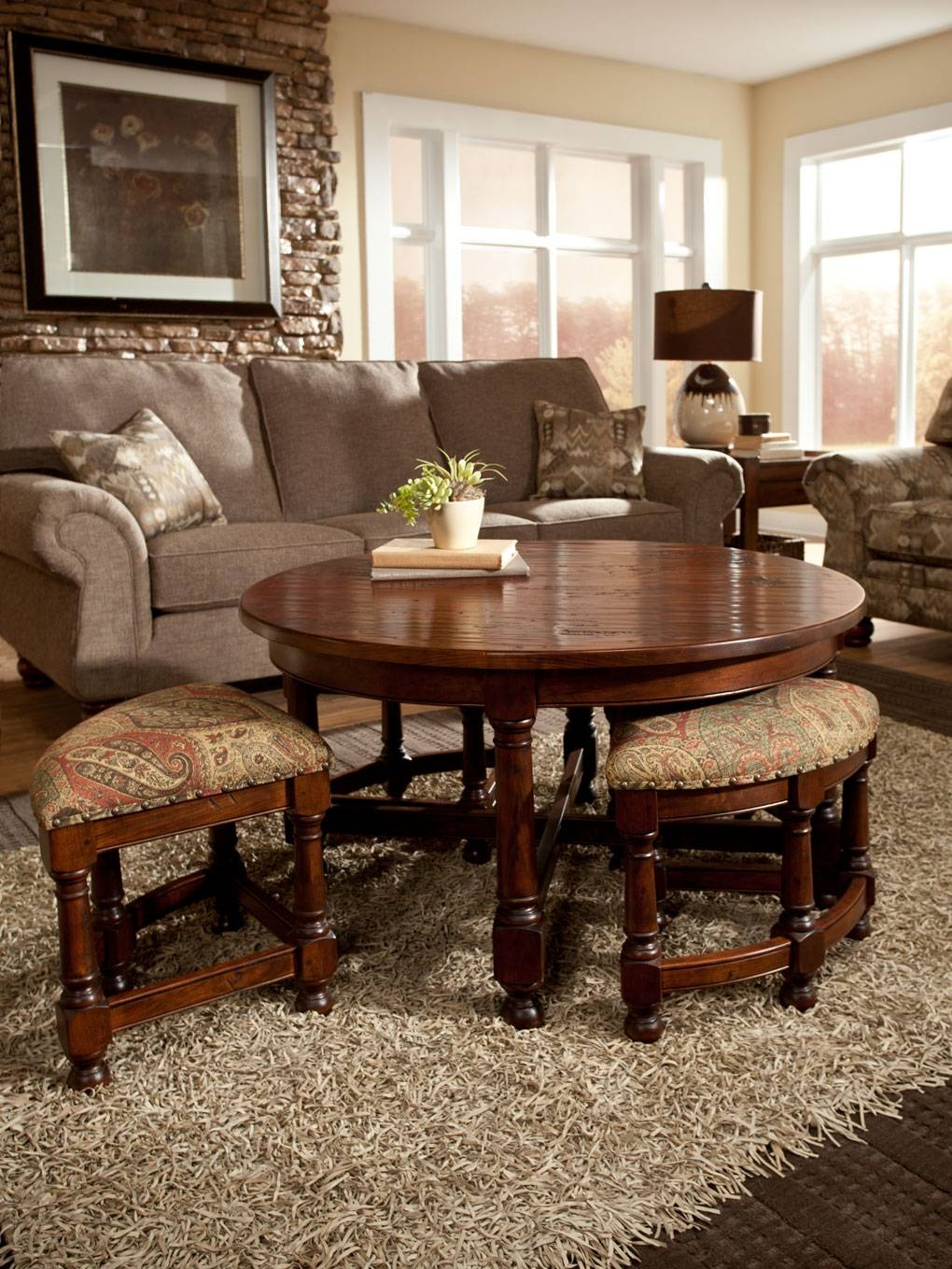 Mackenzie Dow Pertaining To Coffee Tables With Nesting Stools (View 23 of 30)