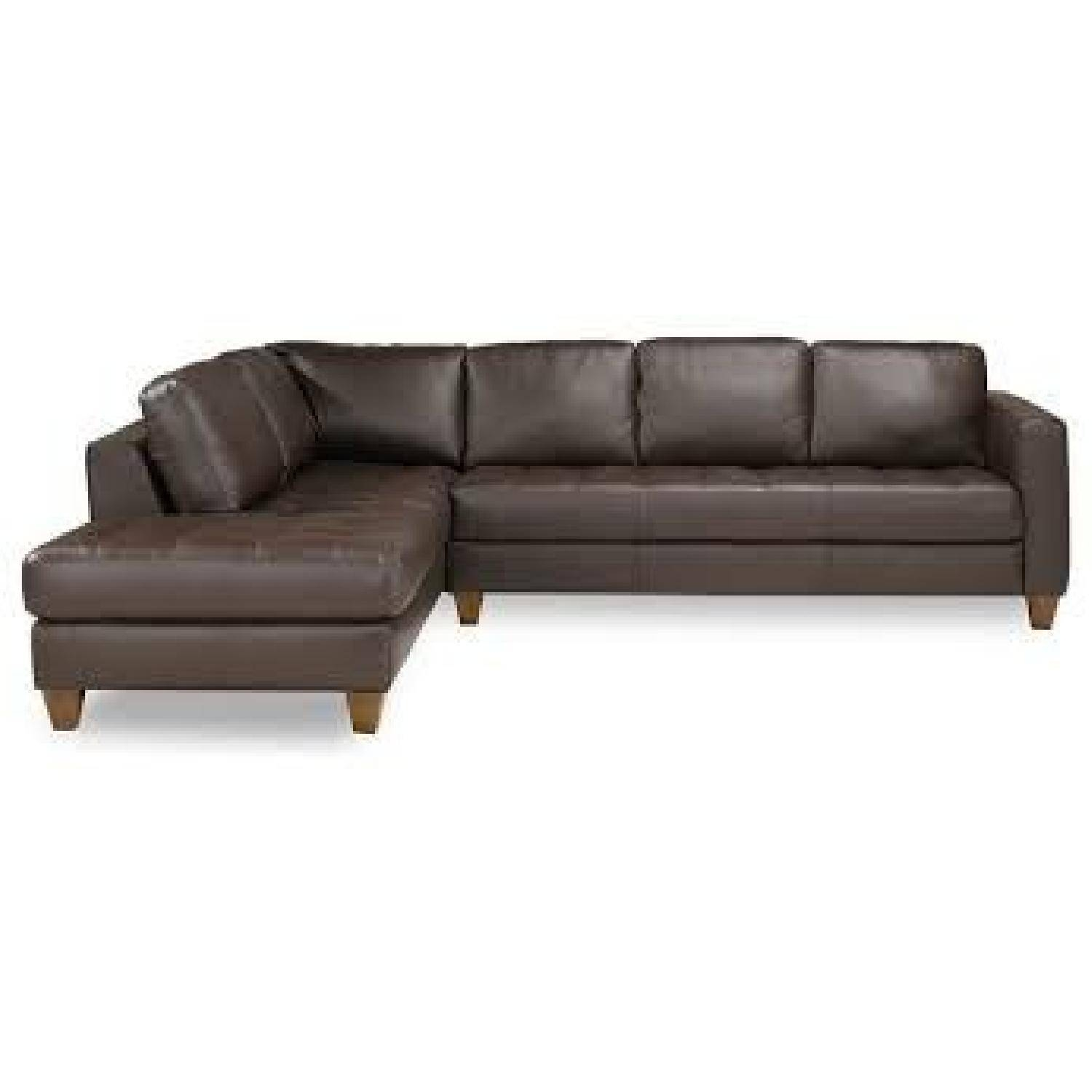 Macy's Milano Brown Leather Sectional Sofa – Aptdeco Regarding Macys Leather Sofas Sectionals (View 6 of 25)