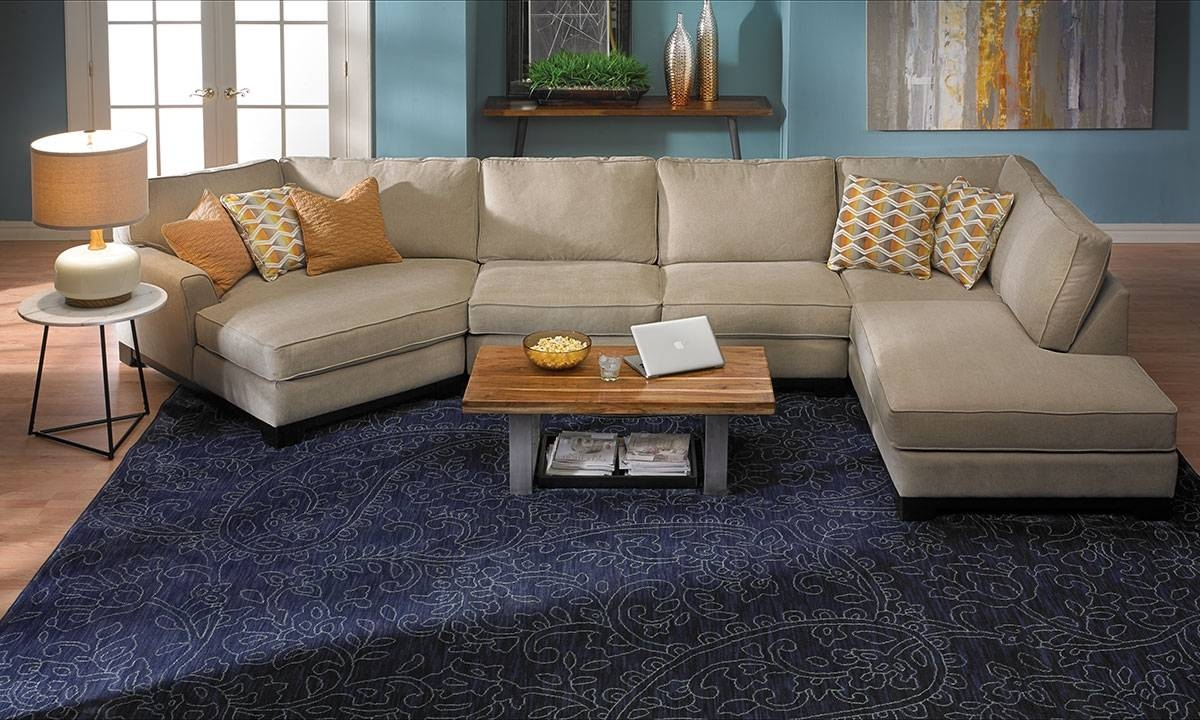 Made In La: Cuddler Chaise Sectional Sofa | Haynes Furniture pertaining to Sectional Sofa With Cuddler Chaise (Image 13 of 25)