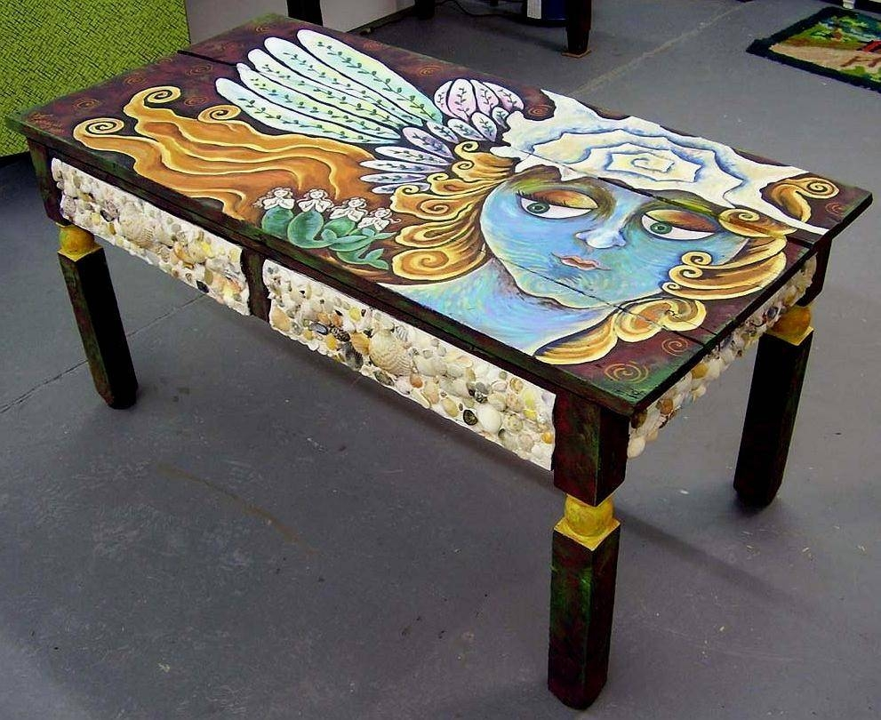 Made To Order Funky Folk Angel Art Coffee Tabledee Sprague regarding Art Coffee Tables (Image 28 of 30)