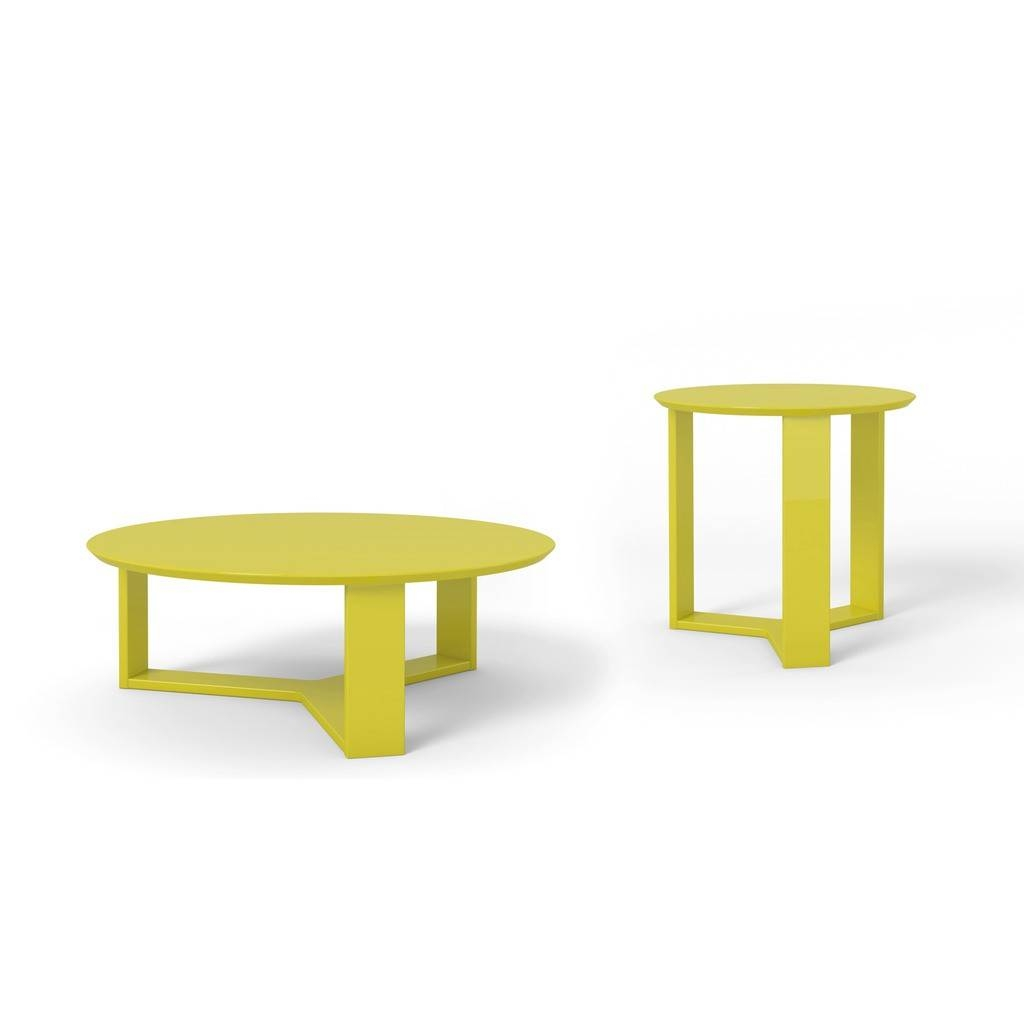Madison 1.0 Coffee Table And Madison 2.0 End Table, Yellow Buy in Madison Coffee Tables (Image 14 of 30)