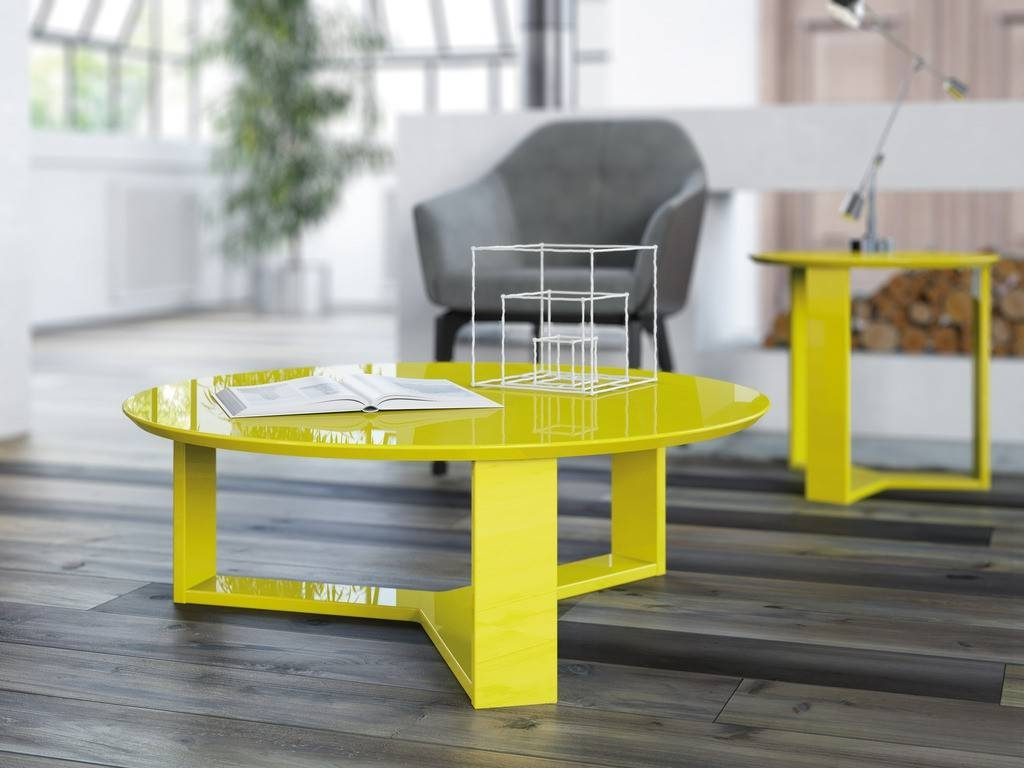 Madison 1.0 Coffee Table And Madison 2.0 End Table, Yellow Buy inside Madison Coffee Tables (Image 15 of 30)