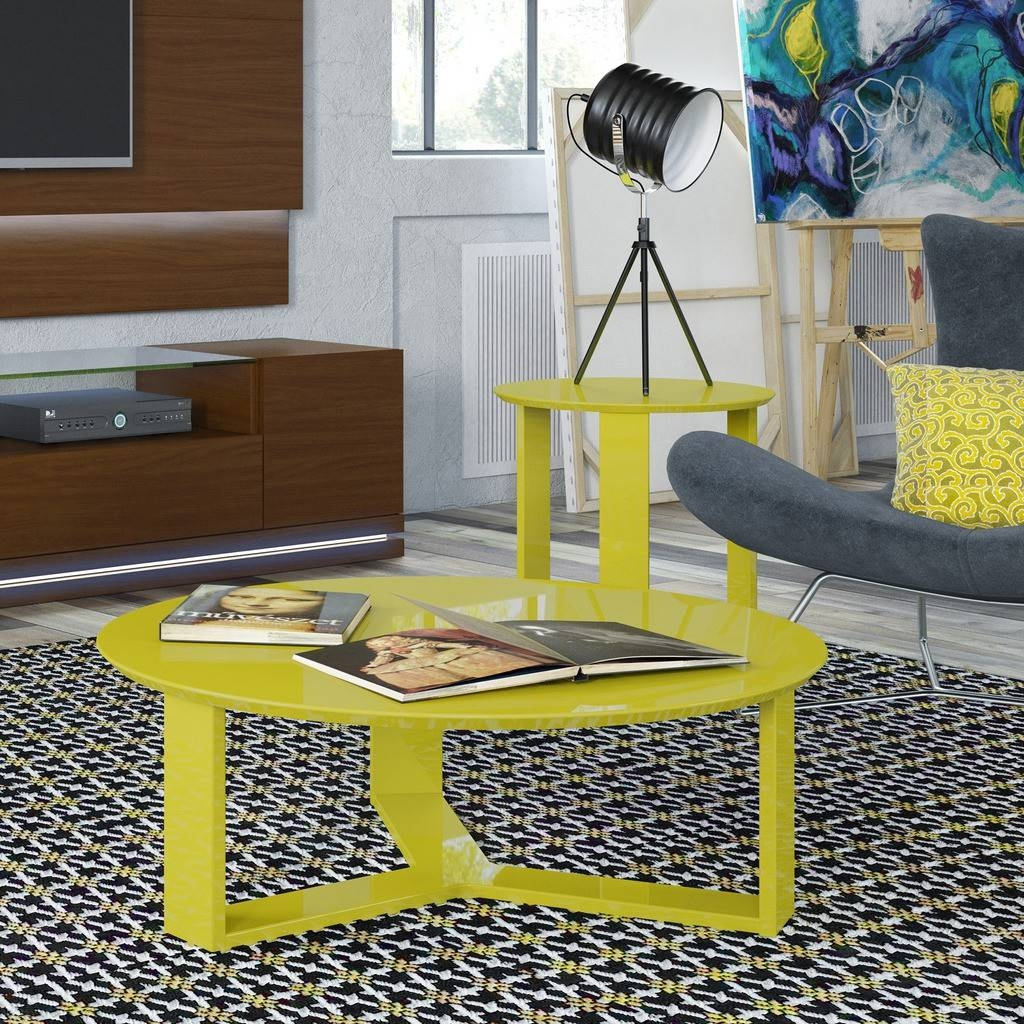Madison 1.0 Coffee Table And Madison 2.0 End Table, Yellow Buy with regard to Madison Coffee Tables (Image 16 of 30)