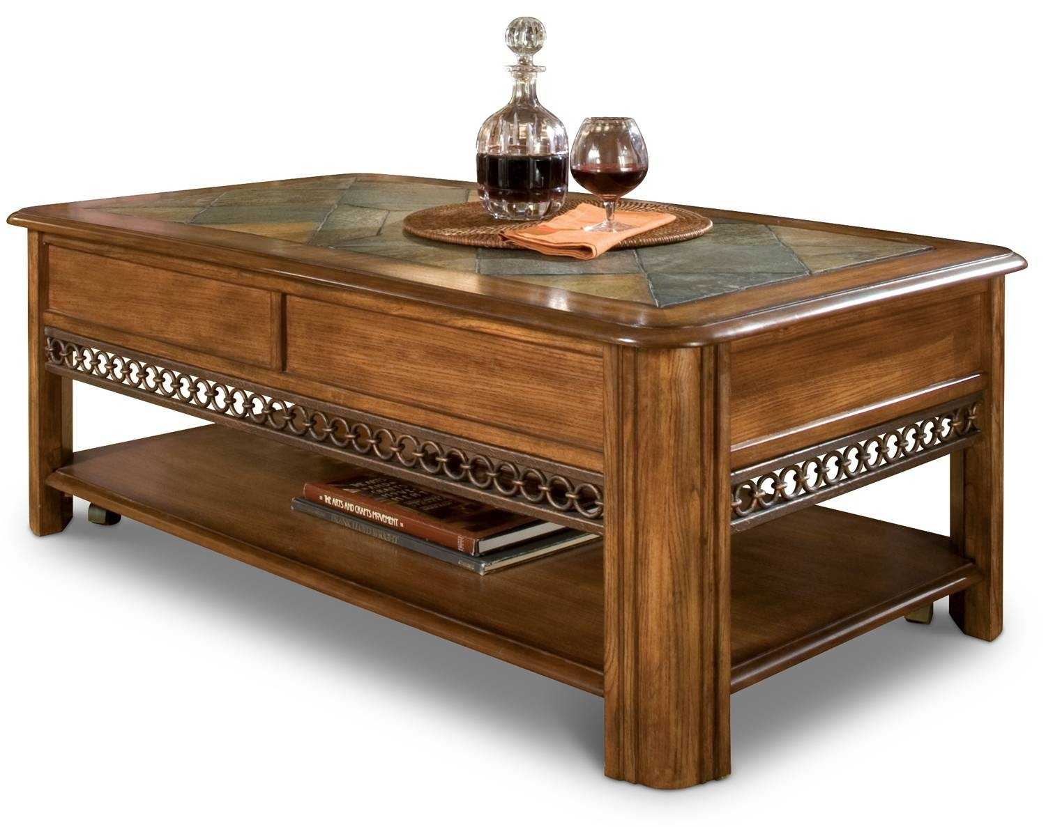 Madison Coffee Table And Two End Tables - Nutmeg | Leon's intended for Madison Coffee Tables (Image 23 of 30)