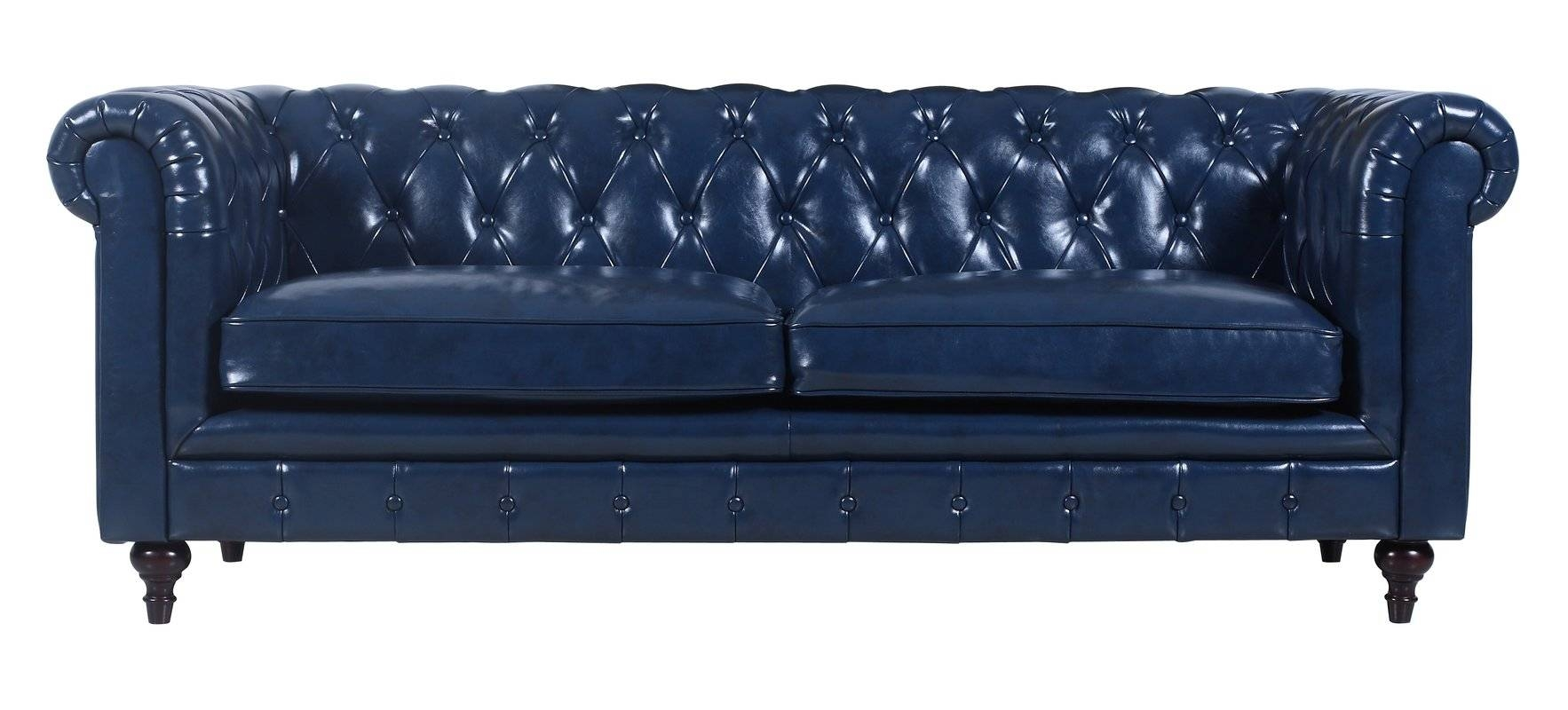 Madison Home Usa Tufted Leather Chesterfield Sofa & Reviews | Wayfair pertaining to Tufted Leather Chesterfield Sofas (Image 16 of 30)