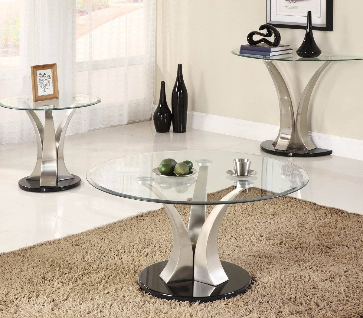 Magnussen Furniture' Glass Sofa Table Furniture Furniture Cracked in Metal Glass Sofa Tables (Image 19 of 30)