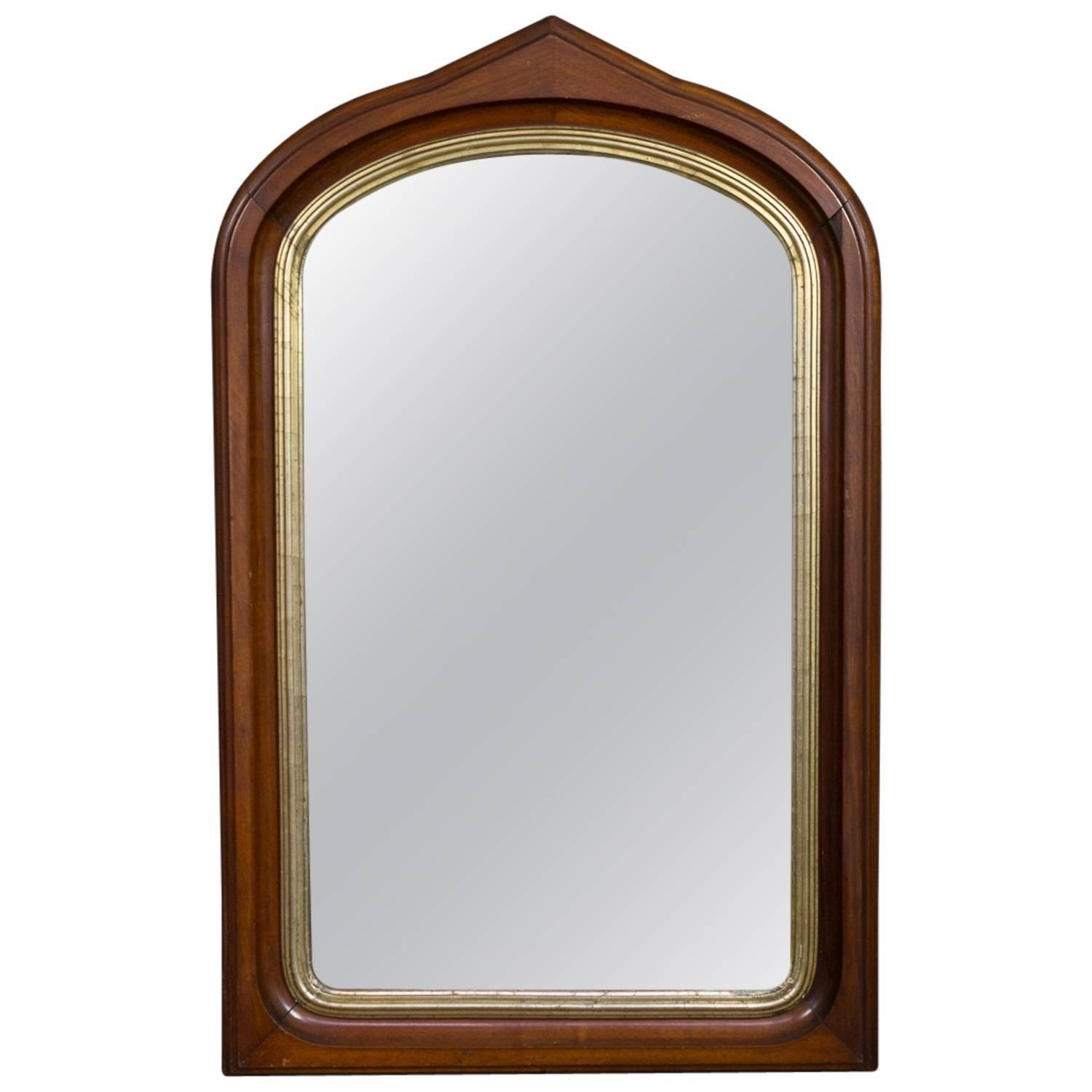 Mahogany Arched Frame Mirror With Gilt Border For Sale At 1Stdibs inside Gilt Framed Mirrors (Image 19 of 25)