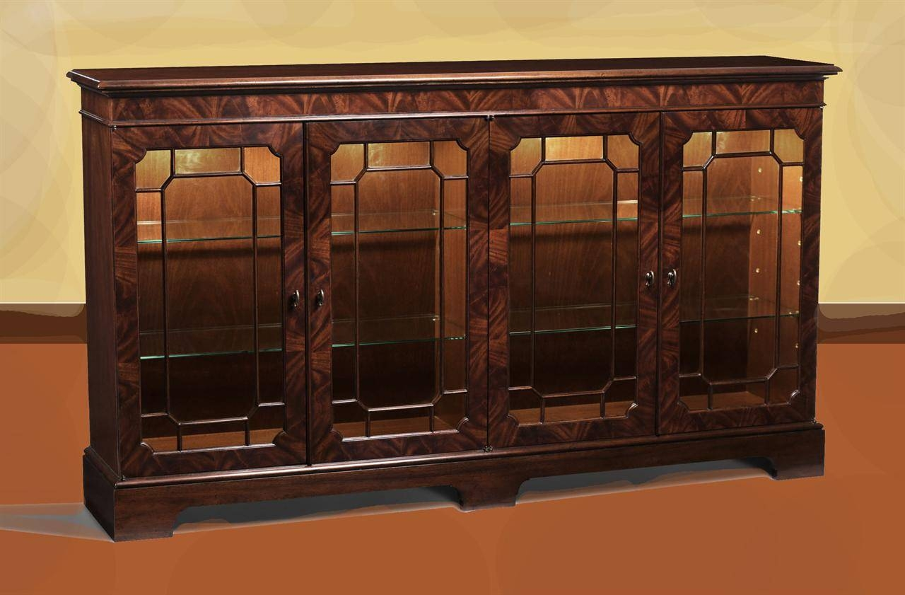 Mahogany Sideboard Display Cabinet. Paned Glass Doors with Sideboards With Glass Doors (Image 12 of 30)