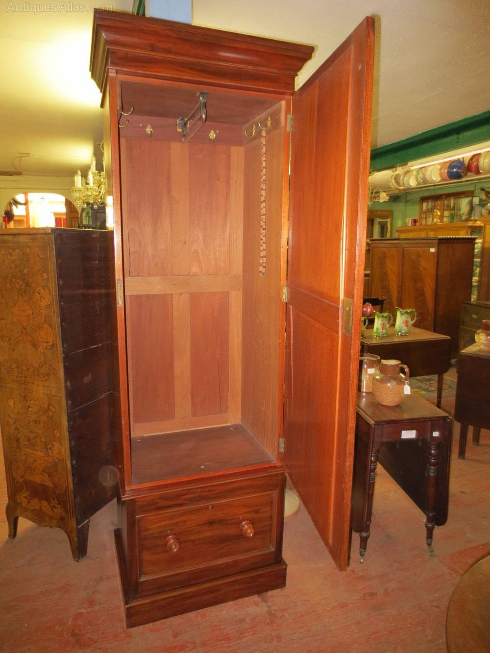 Mahogany Single Wardrobe - Antiques Atlas pertaining to Antique Single Wardrobes (Image 9 of 15)
