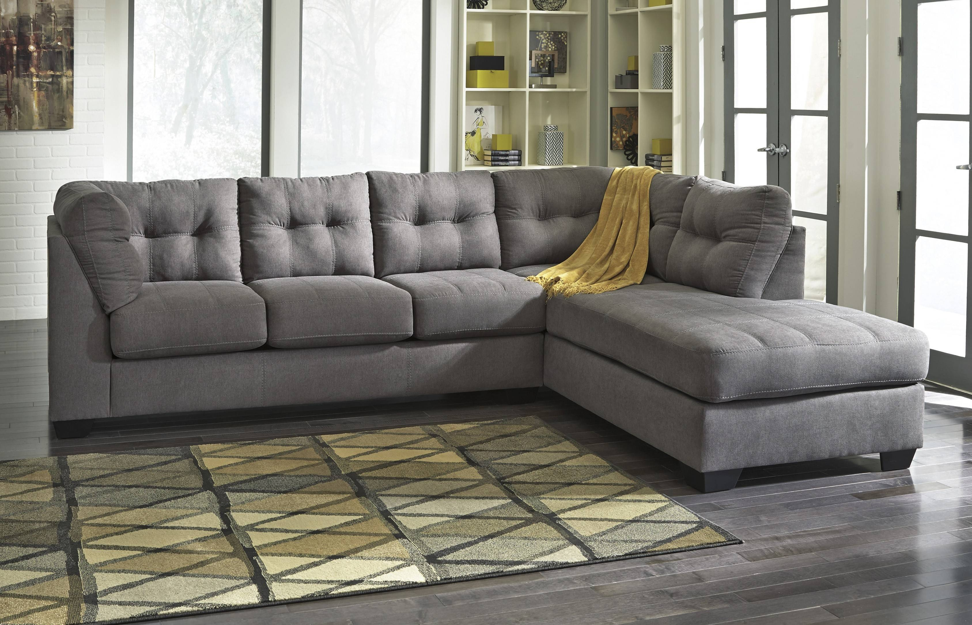 Maier Sectional (Charcoal Gray) | Ashley Furniture | Orange County with regard to Ashley Furniture Gray Sofa (Image 23 of 30)