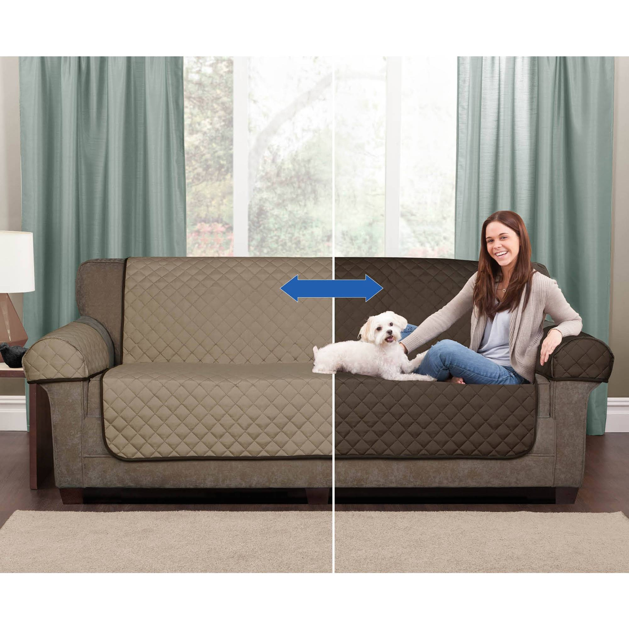 Mainstays 1-Piece Stretch Fabric Sofa Slipcover - Walmart with Wallmart Sofa (Image 20 of 25)