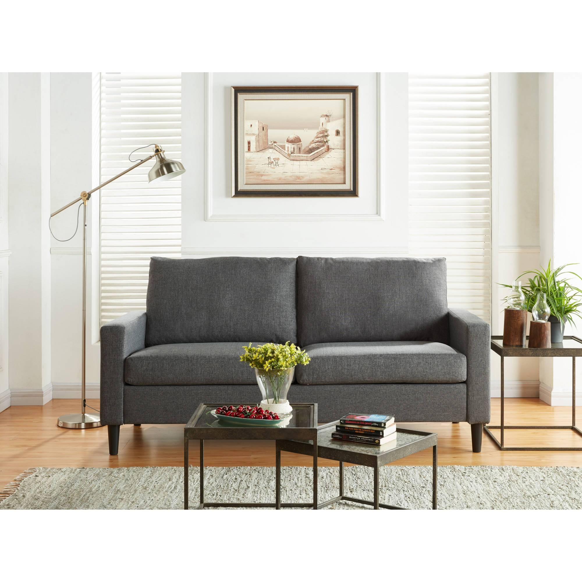 Mainstays Apartment Sofa, Multiple Colors - Walmart intended for Wallmart Sofa (Image 21 of 25)