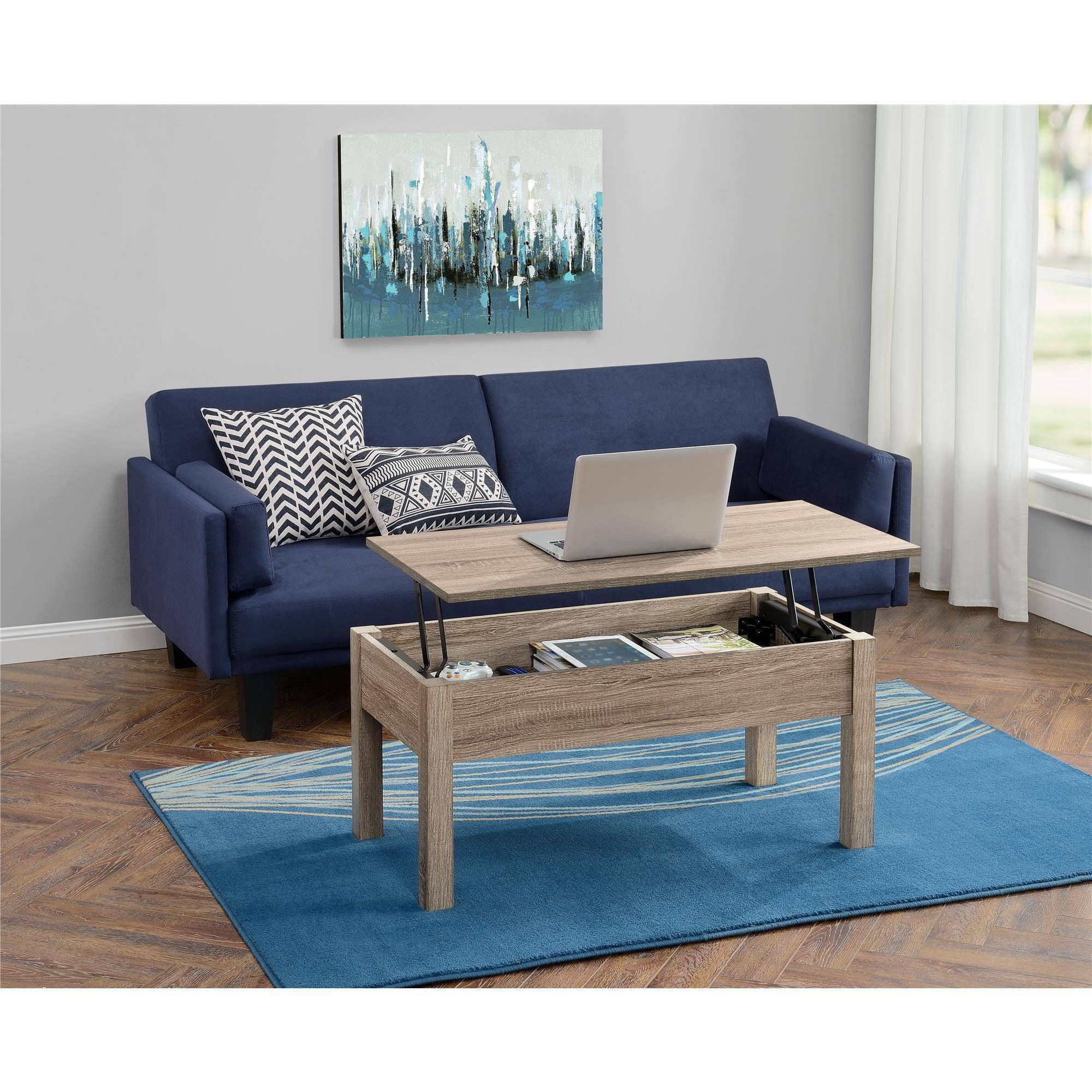 Mainstays Lift Top Coffee Table, Multiple Colors – Walmart Inside Coffee Tables Extendable Top (View 17 of 30)