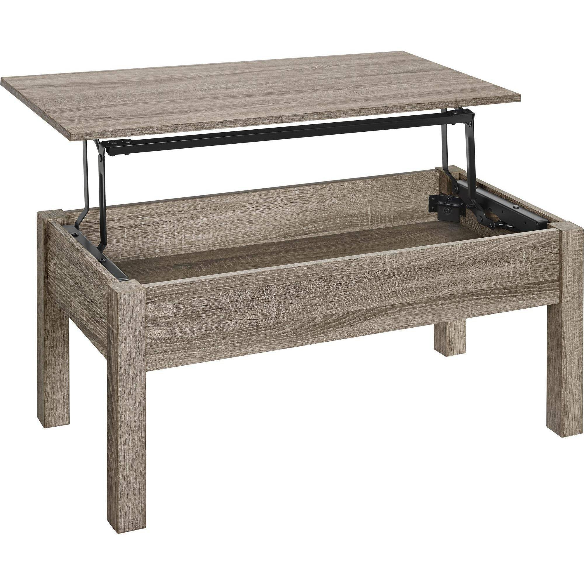 Mainstays Lift Top Coffee Table, Multiple Colors – Walmart With Regard To Raise Up Coffee Tables (View 7 of 30)