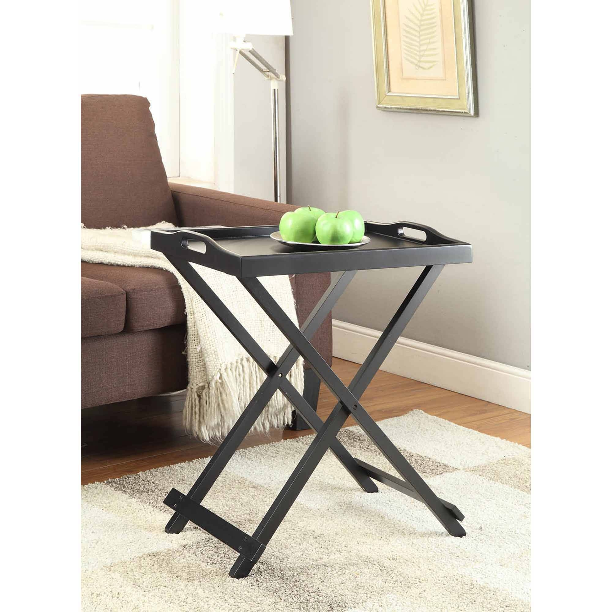 Mainstays Personal Table, Black - Walmart inside Sofa Snack Tray Table (Image 9 of 30)