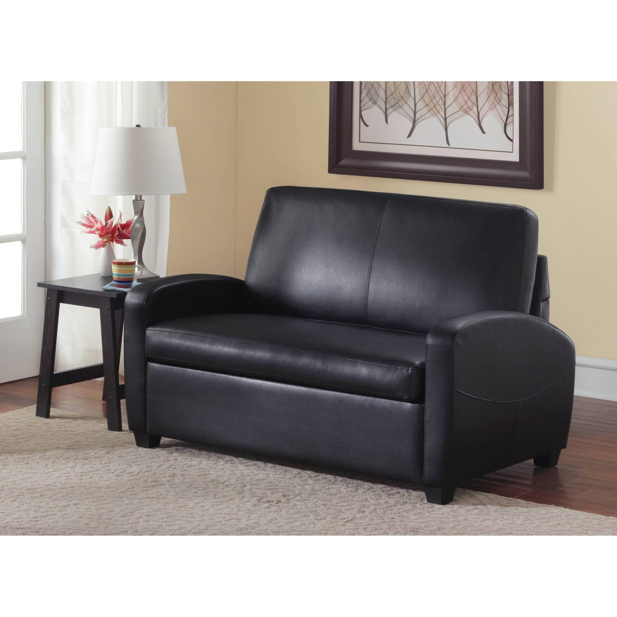 Mainstays Sofa Sleeper, Black - Walmart throughout Wallmart Sofa (Image 22 of 25)